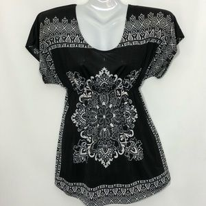 JULIE'S CLOSET bohemian hippie empire waist blouse